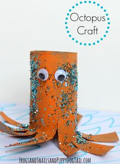 octopus toilet paper roll craft for kids on FSPDT