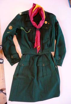 1940s/50s Danish Green Girl Guide uniform