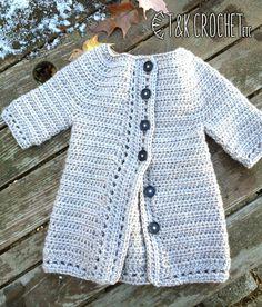 Girls Crochet Cardigan Toddler Girl Sweater by TandKCrochet #T&KCrochet