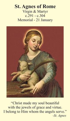 21 January - Feast Day - St Agnes