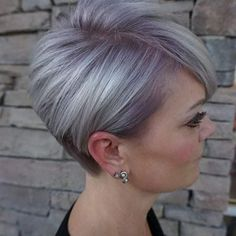 20 Latest Short Hair In The Autumn Of 2019 Page 3 of 11 BeautyMe Short Grey Hair autumn BeautyMe Hair Latest Page Short Short Grey Hair, Back Of Short Hair, Short Hair Cuts For Women Over 50, Grey Hair Over 50, Chic Short Hair, Short Hairstyles For Women, Short Haircuts, Grey Bob Hairstyles, Pixie Haircut