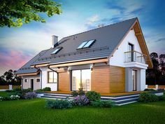 DOM.PL™ - Projekt domu DN KARMELITA BIS 2M CE - DOM PC1-47 - gotowy koszt budowy Home Fashion, Mansions, House Styles, Home Decor, Home Plans, Projects, Decoration Home, Manor Houses, Room Decor