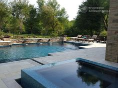 Riverbend Sandler Pools offers Geometric Pool Designs Dallas, Frisco and surrounding areas that homeowners can be proud of. Pool Gazebo, Backyard Pool Landscaping, Backyard Pool Designs, Swimming Pools Backyard, Backyard Ideas, Pool Builders, Dream Pools, Beach Pool, Water Features