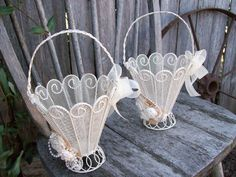 Hey, I found this really awesome Etsy listing at http://www.etsy.com/listing/175989218/ivory-flower-girl-basket-victorian