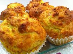 Recetas de Cocina para Todos: Muffins Salados de Jamón, Queso Brie y Tomate