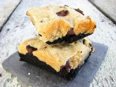 Layered Brownie Chocolate Chip Cookie Bars (Gluten, Grain, Starch, Egg, Corn, Soy Free) from Real Sustenance