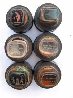 V-Rare-Georgian-Rosewood-Tower-of-Glass-Seals-Numbered