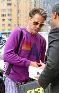 Robert Downey Jr. what are you wearing?? And how do you still look adorable?