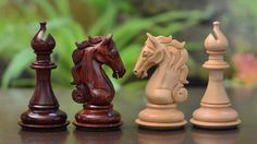 [It's a must to have a Chess set in the library.] Triple Weighted Wooden Staunton Chess Set Bud by chessbazaarIndia