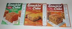Snackin Cake - cooked in a cardboard tray. I wish they still made these!