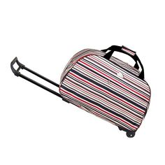 500b0be5cc0a Click image to buyt  High Quality 20 Inch Oxford Cloth Business Draw-bar  LuggagePlastic Wheel Metal Rod Trolley Bag Laptop Trolley Travel Bag      Click the ...