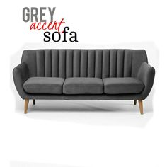 This mid-century-inspired gray sofa made from oak and polyester upholstery will surely enhance your room decor with its plush cushions in soft poly fabric. tapered wooden legs and finished with quilted detailing along the back for an ultra-sleek look no one could resist. Mid Century Modern Sofa, Mid Century Modern Furniture, Gray Sofa, Hollywood Regency, Sofa Furniture, Contemporary Furniture, Interior Styling, Classic Style, Mid-century Modern