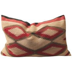 20th Century Early Navajo Indian Weaving Muted Eye Dazzler Pillow