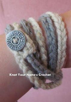 Free pattern tutorial. Crochet-chain-bracelet