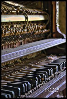 abandoned piano