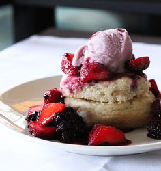 Vegan Strawberry Shortcake with Strawberry Gelato - THE RAW AND THE COOKED