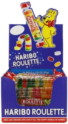 Haribo Roulettes, 36-Count Box by Haribo, http://www.amazon.com/dp/B0036QD9VC/ref=cm_sw_r_pi_dp_gAnosb1K6667B