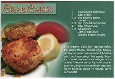 Postcard Recipe Crab Cakes