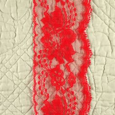 4 yards, Red, Scallop Lace Trim, 3 Inch Wide, Flowers, Polyester, 3-oz, L48 by DartingDogCrafts on Etsy