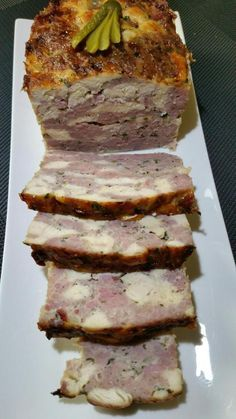Chicken terrine, sausage meat and bacon flavored with Cognac - toc-cuisine.fr - Chicken terrine, sausage meat and bacon flavored with Cognac - Easy Crockpot Pork Chops, Crockpot Chicken Healthy, Vegetarian Crockpot Recipes, Meat Recipes, Cooking Recipes, Recipes Dinner, Dinner Crockpot, Dinner Entrees, Corned Beef Brisket