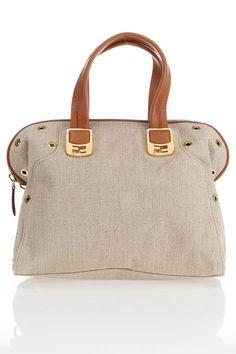 Fendi Chameleon Bag In Natural & Nut.