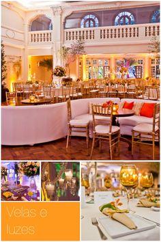 Tendências de cores e decoração de casamentos 2014 - velas e luzes    http://www.elo7.com.br/topodebolopassarinho