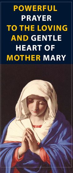Powerful Prayer to the Loving and Gentle Heart of Mother Mary #prayer #mary