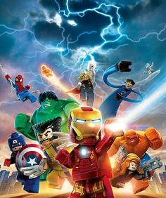 Marvel Superhero Lego Poster The Avengers