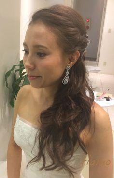 サイドダウンでWedding Party☆美男美女の素敵なお二人 の画像|大人可愛いブライダルヘアメイク 『tiamo』 の結婚カタログ