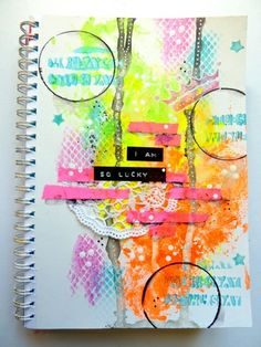 Art Journal # 40 - The ♦ ♦ ♦ ♦ Créas of Laé I love the bright colors