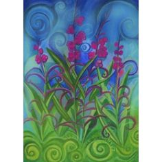 Fireweed Flowers Matted Print