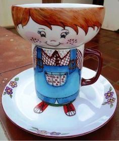 Jogo infantil de porcelana - R$85.00