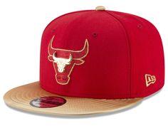 Chicago Bulls New Era NBA Gold Rush Pin 9FIFTY Snapback Cap 2c688cc0562