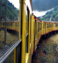 """""""We went by the little yellow train from Villefranche-de-Conflent to Odeillo Via. Tre route is very interesting - many viaducs, tunnels and incredible views""""."""
