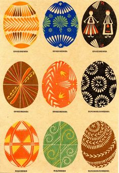 4) 7th Board 5th Pin...EASTER..Traditional Pysanky: Far Western Ukraine   THIS BOARD IS FULL OF BEAUTIFUL DYED EGGS..