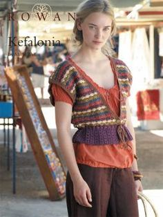 Kefalonia: free crochet short-sleeve striped cardigan pattern download from Rowan Yarns