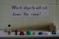 Great activity if you are teaching about energy, motion, or friction. Perfect for students with autism and other special learning needs. Read more at: http://www.prekinders.com/ramps-in-the-science-center/