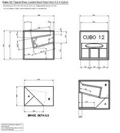 Cubo12 Subwoofer Box Design, Speaker Box Design, Rcf Audio, Iron Man Birthday, Woofer Speaker, Speaker Plans, Music Speakers, Loudspeaker, Planer