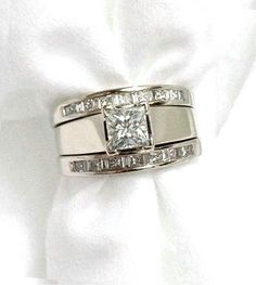LEEYA Stainless Steel Rings for Men Engagement Wedding Band Chain Ring, Size Silver) – Fine Jewelry & Collectibles Pretty Rings, Beautiful Rings, Thick Band Engagement Ring, Diamond Rings, Diamond Jewelry, Or Antique, Fashion Rings, Ring Designs, Wedding Rings