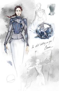 Cinna's sketches of Katniss' Mockingjay suit are featured in a NEW 'Mockingjay Part 1' Behind The Scenes Clip - Katniss' Mockingjay Suit  http://www.panempropaganda.com/movie-countdown/2015/2/12/new-mockingjay-part-1-behind-the-scenes-clip-katniss-mocking.html/
