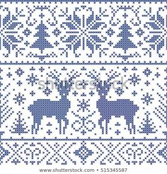 Ideas For Crochet Christmas Afghan Patterns Stitches Tree Patterns, Afghan Patterns, Cross Stitch Patterns, Christmas Afghan, Christmas Knitting, Crochet Christmas, Christmas Deer, Knitting Charts, Knitting Patterns