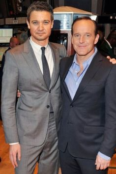 Jeremy Renner and Clark Gregg (Agent Phil Coulson).