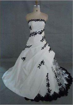 Black and white wedding dress | Black and white | Pinterest | Sposa ...