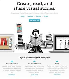 Storybird gives you the art and tools to create you own storybook, great activity for the family!