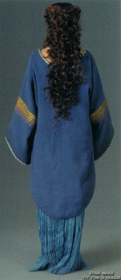 Star Wars Padme Amidala Tatooine Blue Dress - Back view