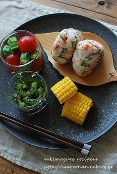 夏野菜 ゴーヤ(麺つゆ、胡麻、熱々ゴマ油)