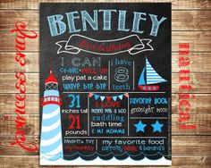 First Birthday Chalkboard Poster Sign Printable by PrincessSnap, $25.00