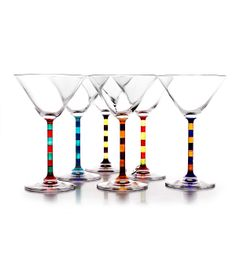 CAPRI MARTINI GLASSES | Capri Martini Set of Two Tone Stemmed Glasses for Fun, Classy Cosmos and Beautiful, Elegant Dinner Parties | UncommonGoods