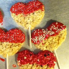 This would be cute for a valentines day party at school! Without the red frosting and maybe just red sprinkles