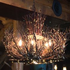 branch chandelier lighting. Check Out This Item In My Etsy Shop Https://www.etsy.com/listing/262553028/cheyenne-rustic-twig-chandelier-5-1 Branch Chandelier Lighting